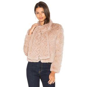 Joie Sela knitted Rex Rabbit Coat